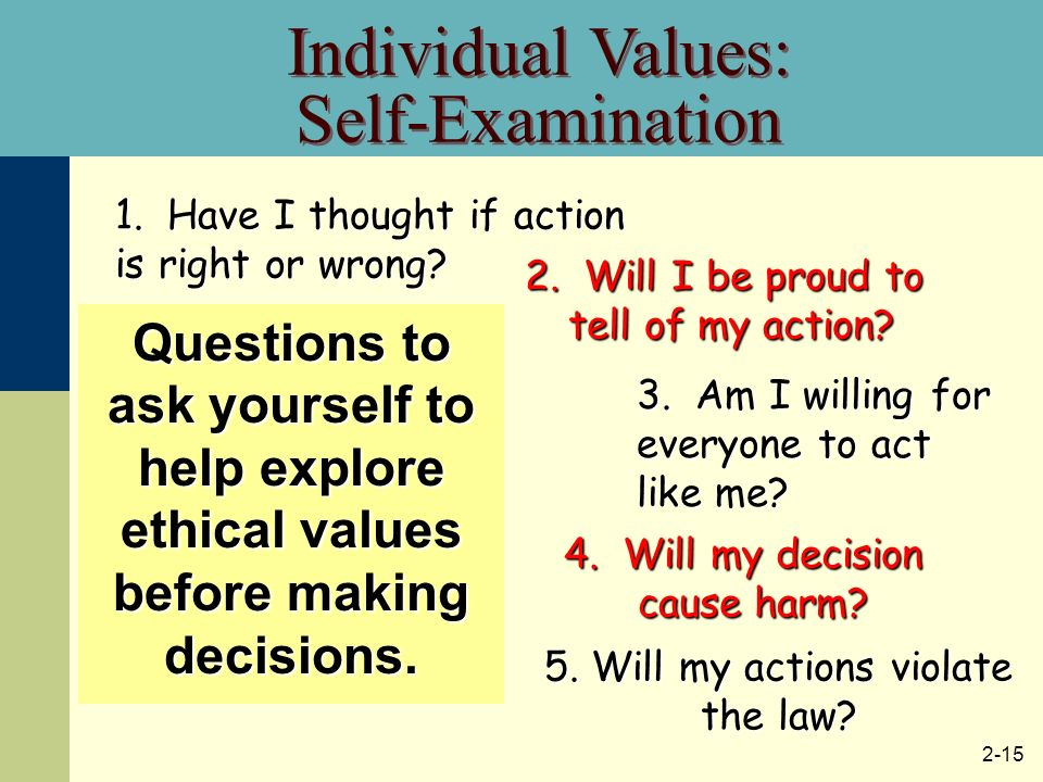 an examination of an ethical decision making The ethical decision-making manual for helping professionals, by steinman et al states that before you can begin a decision making process you need to identify the problem once the problem is identified, their model includes the following steps:.