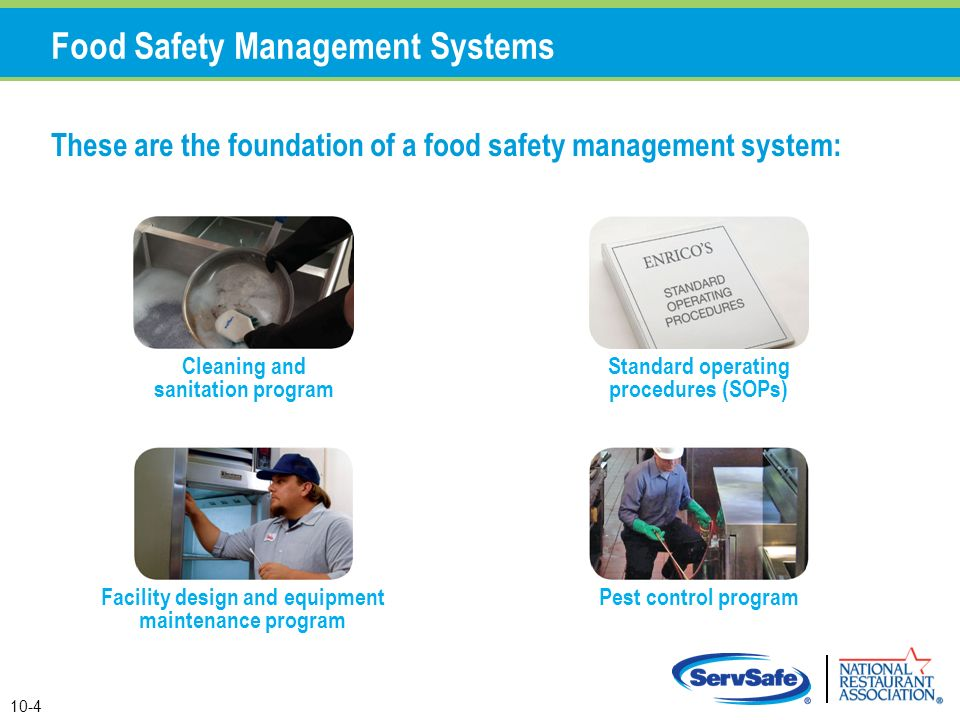 food safety management procedures Of the food safety quality management system and to meet the requirements of  the food safety management system documentation includes the food safety policy and food safety objectives, the procedures and records required by iso 22000 and those documents required to ensure the effective development, implementation and updating.