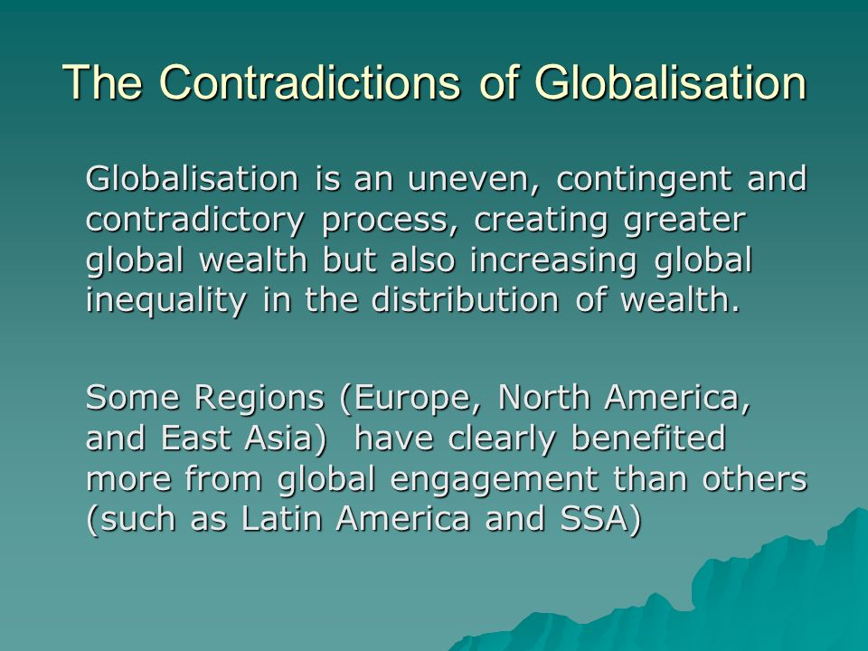 dynamics of gobalisation Minor the global studies minor provides students with an introduction to the fundamental dynamics of globalization through an interdisciplinary curriculum, students can explore the complex and multifaceted interconnections that characterize the contemporary world.