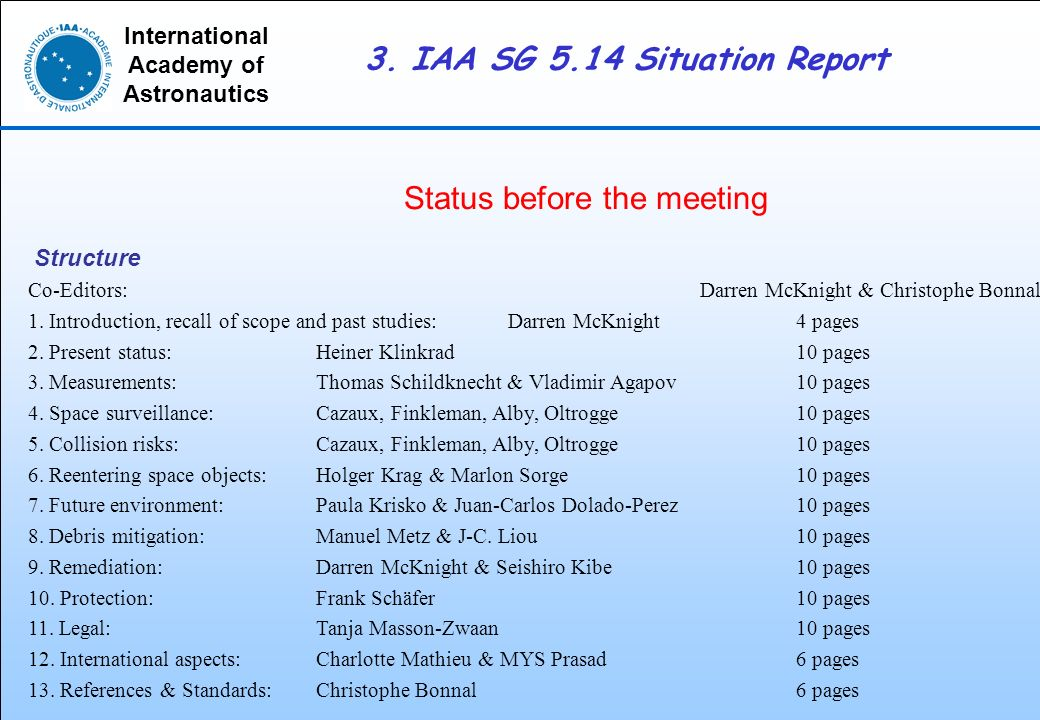 3. Iaa Sg 5.14 Situation Report - Ppt Download