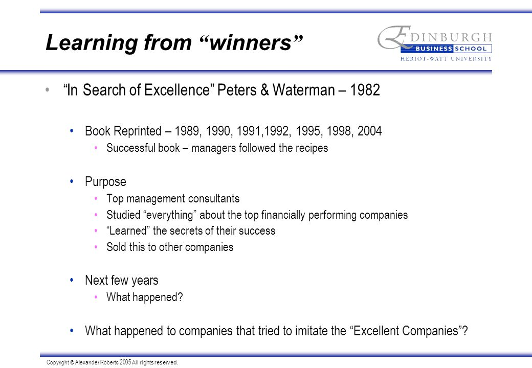 Strategic planning and implementation ppt download 12 learning from winners in search of excellence peters waterman publicscrutiny Choice Image