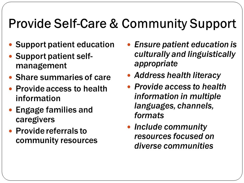 Provide Self-Care & Community Support