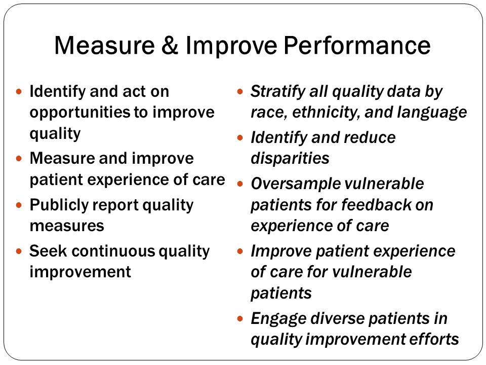Measure & Improve Performance