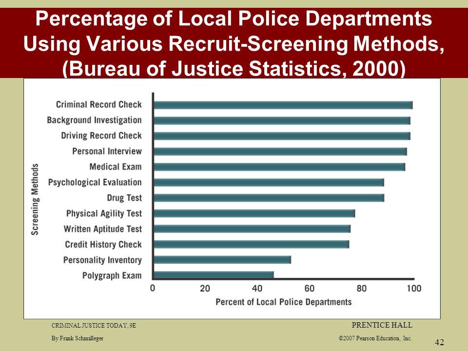 Chapter 6 police organization and management ppt download for Bureau justice statistics