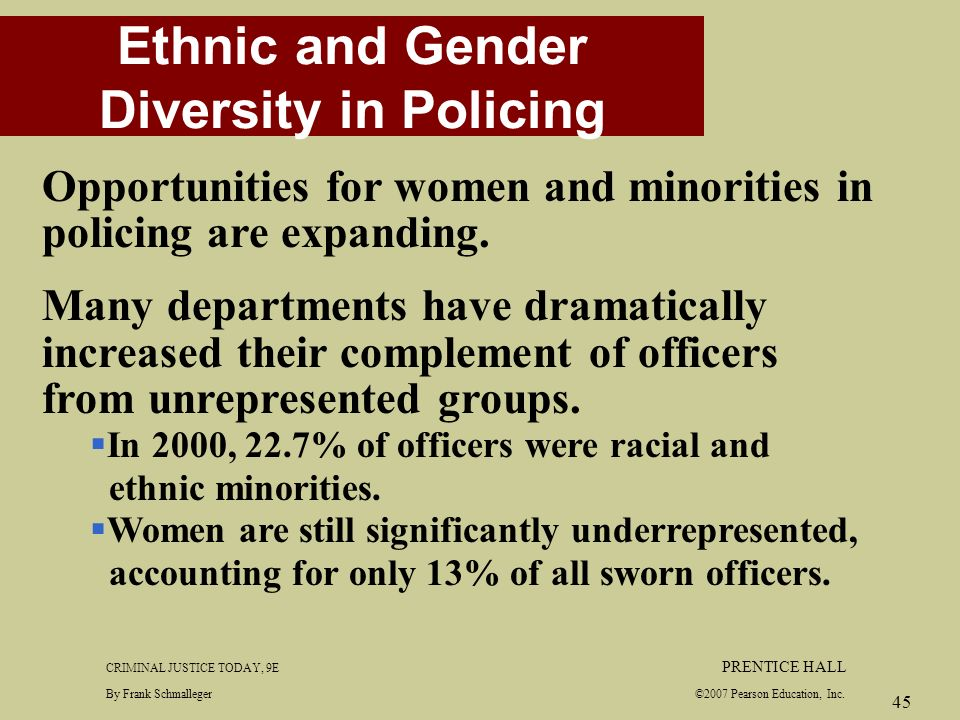 ethnicity and policing Free essay: race and ethnicity in police employment practices isabel r rodriguez university of phoenix october 3, 2011 blanche cook race and ethnicity in.