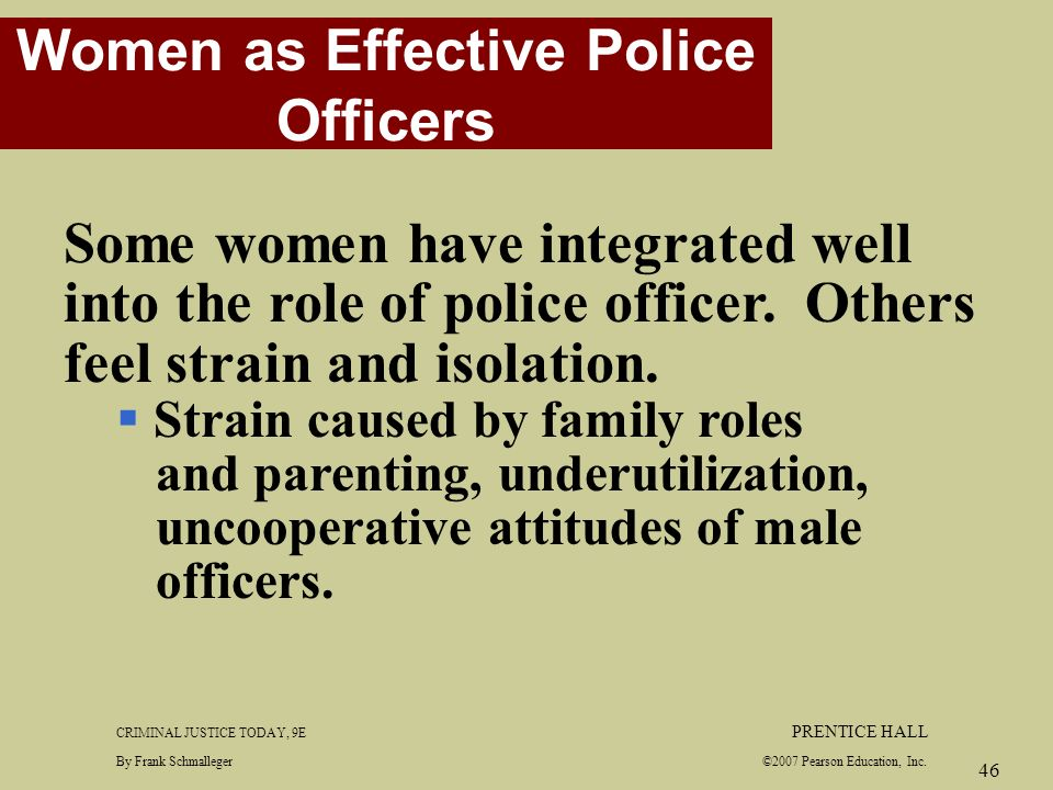 women as effective police officers