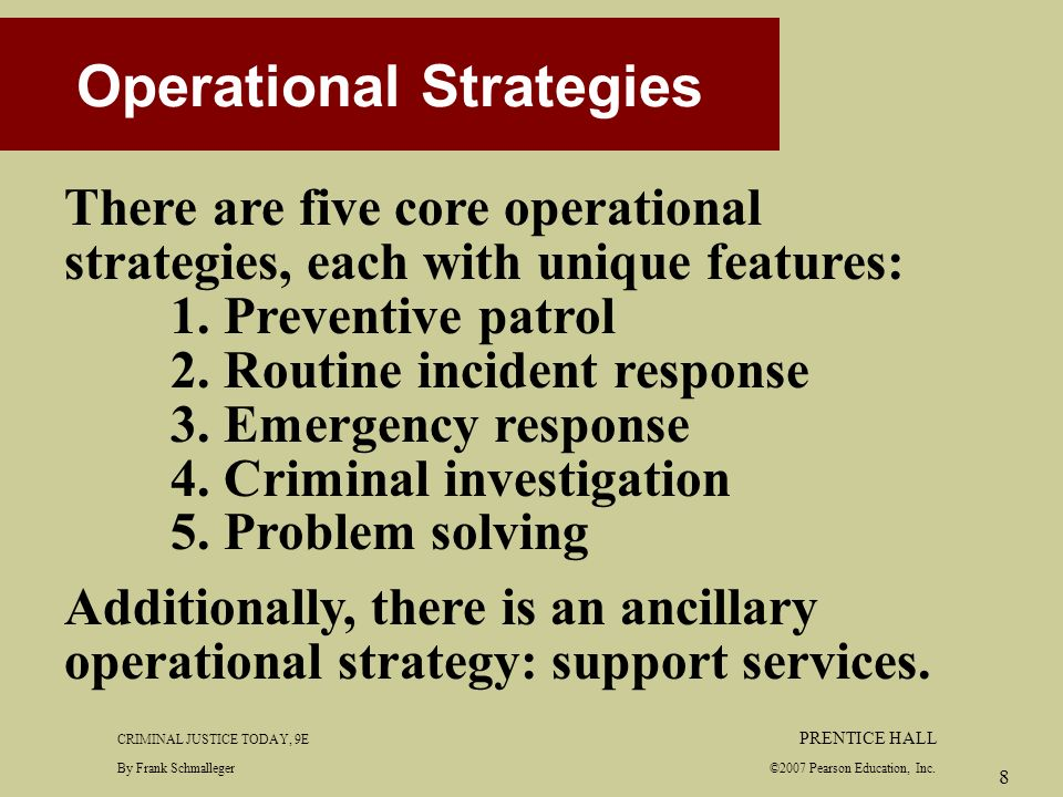 patrol strategies Video: police patrol: operations,  the first type of strategy is known as the preventive patrol in a preventive patrol, the police seek to achieve various objectives these include the .