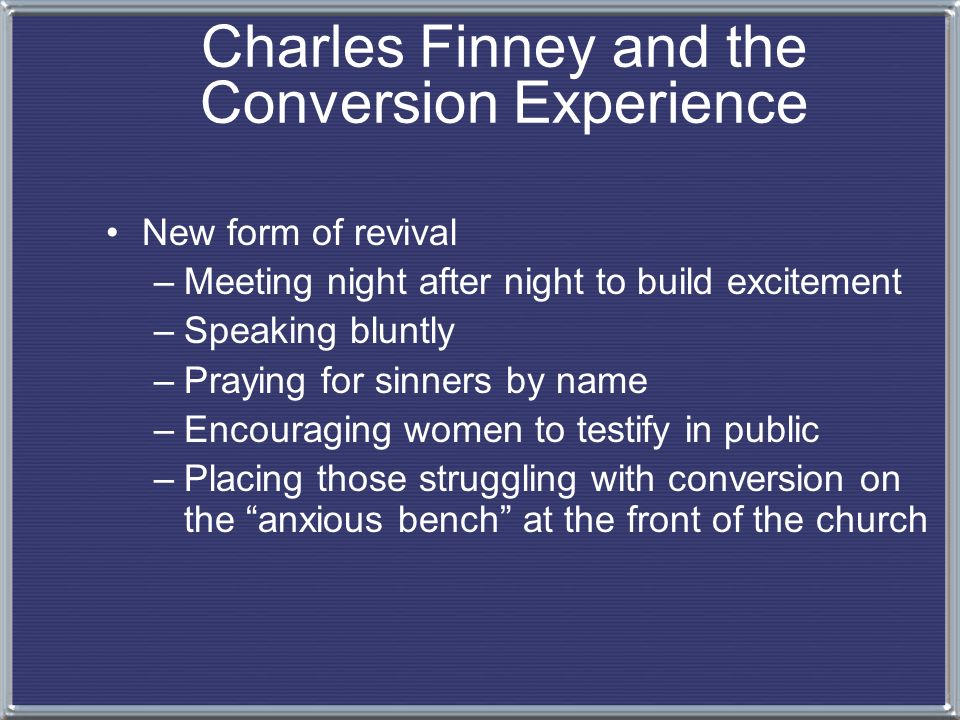 an introduction to the conversion when finney rejected the calvinist doctrine Charles finney: his theology, his practice, and his ratliff, 2 introduction the theology of charles finney has been at calvinism, that had finney known the.