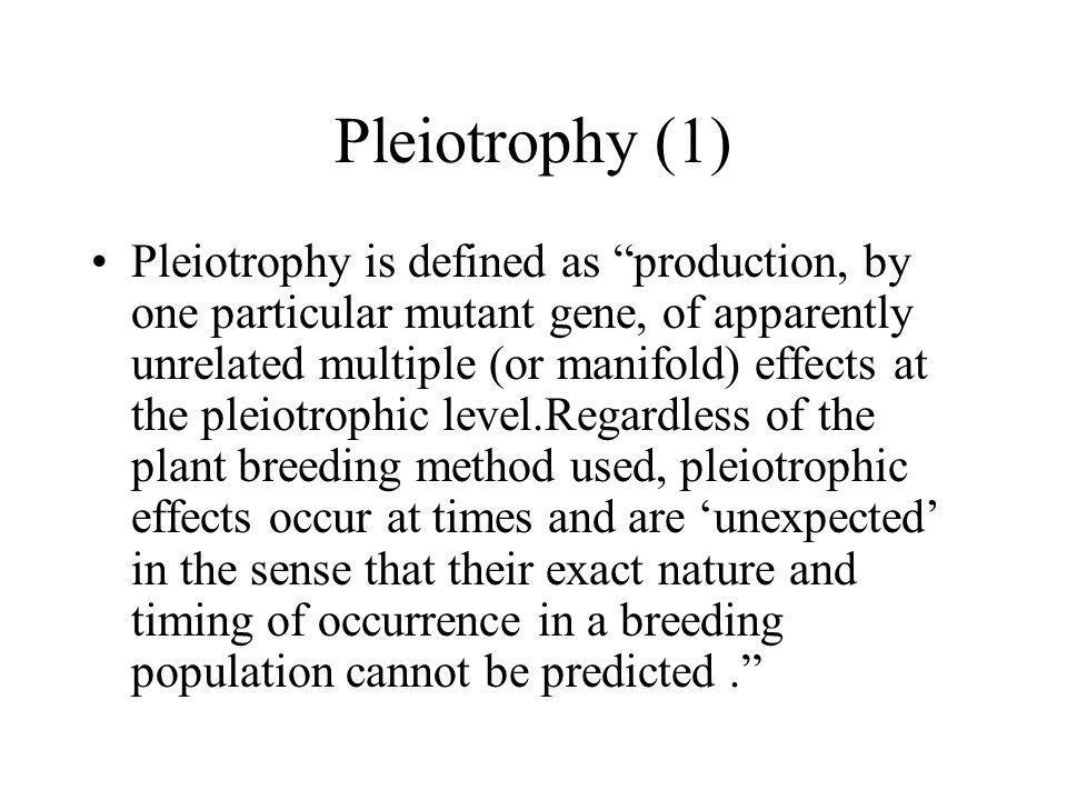 Pleiotrophy (1)