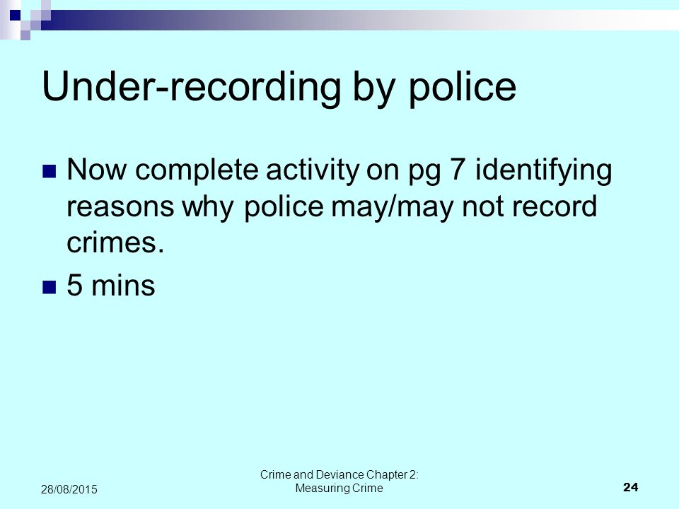 Under-recording by police