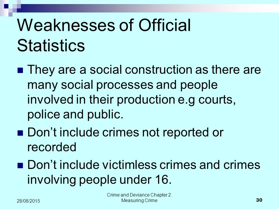 Weaknesses of Official Statistics