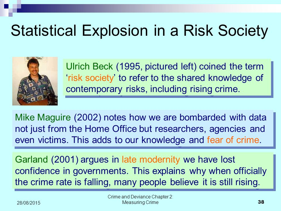 Statistical Explosion in a Risk Society
