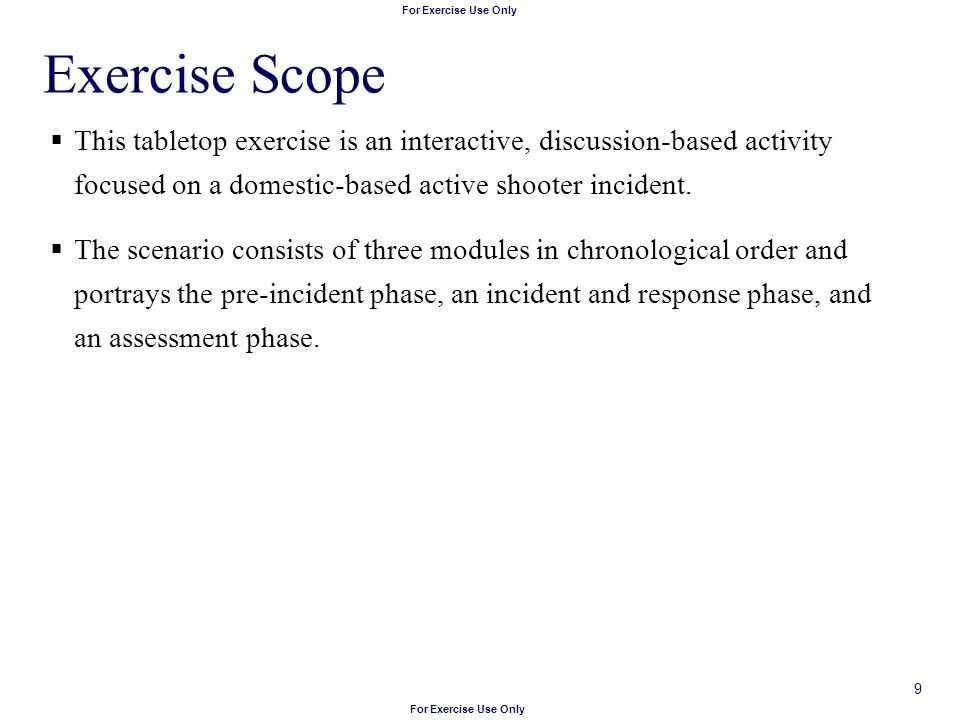 Incident Response Tabletop Exercise Template - All The Best Exercise ...