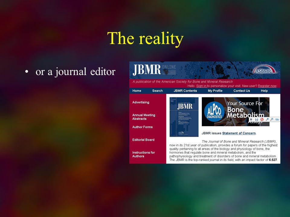 The reality or a journal editor