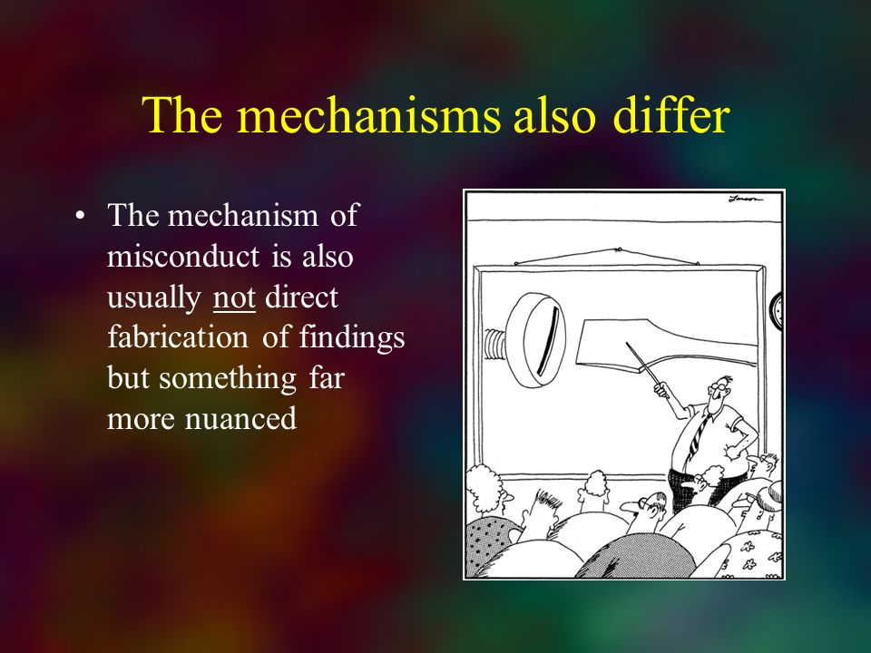 The mechanisms also differ
