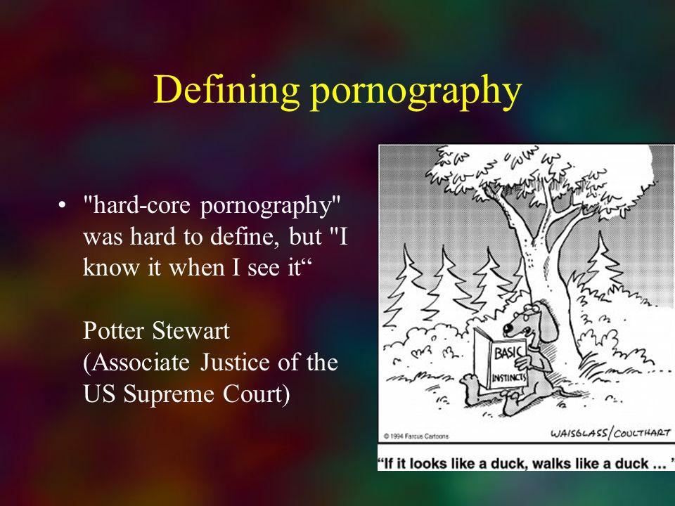 Defining pornography