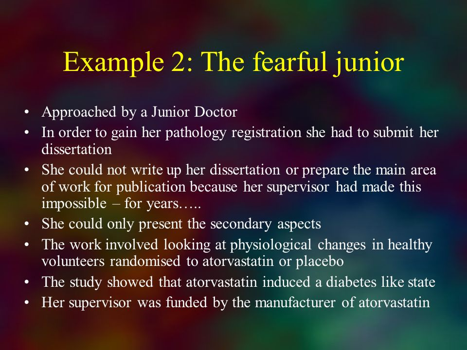 Example 2: The fearful junior