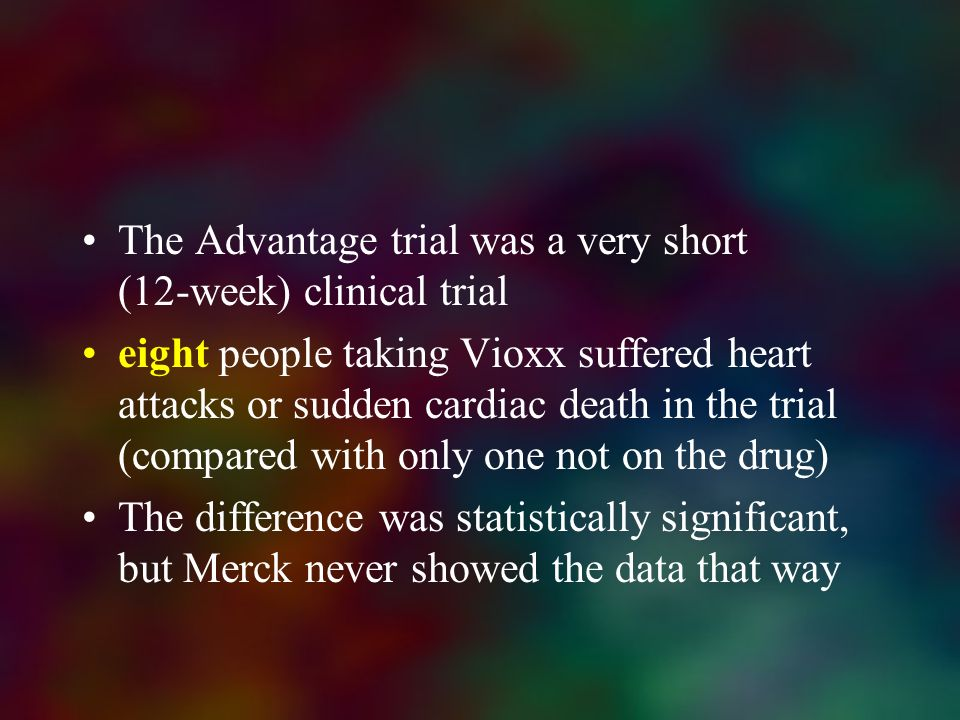 The Advantage trial was a very short (12-week) clinical trial