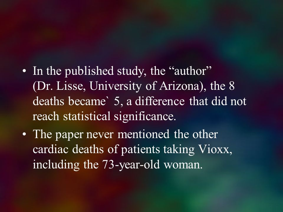 In the published study, the author (Dr
