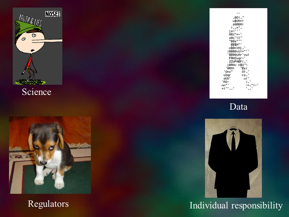 Science Data Regulators Individual responsibility
