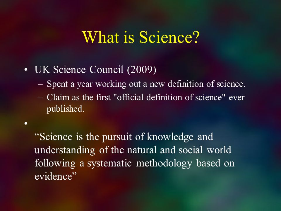 What is Science UK Science Council (2009)