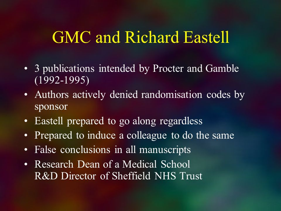 GMC and Richard Eastell