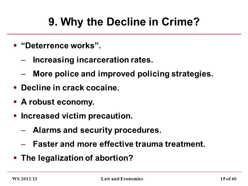 crime and deterrence effectiveness Deterrence in the twenty-first century: a review prevents crime by deterrence is the primary source of police effectiveness in deterring crime whereas.