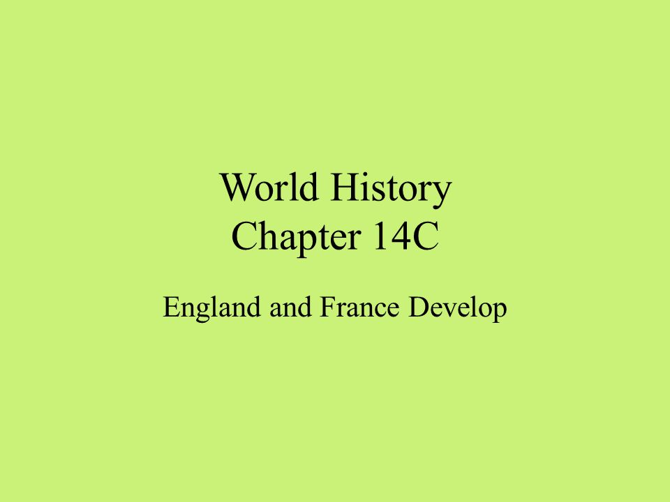 World History Chapter 14C
