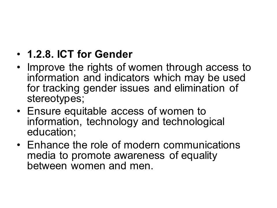 1.2.8. ICT for Gender