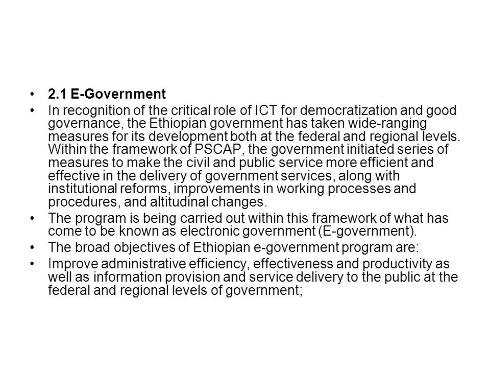 2.1 E-Government
