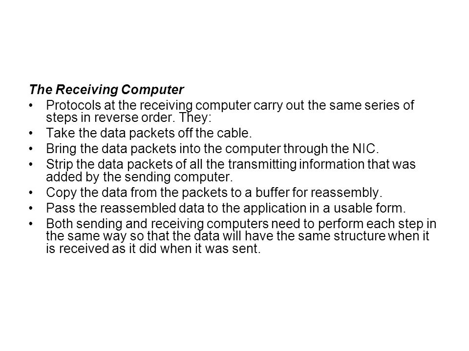 The Receiving Computer