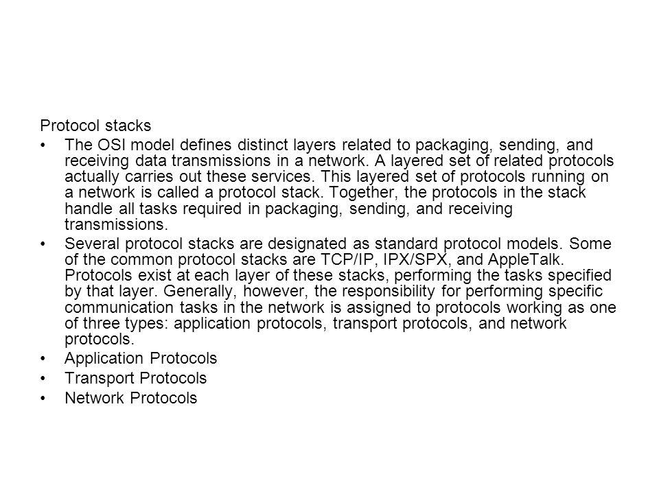 Protocol stacks