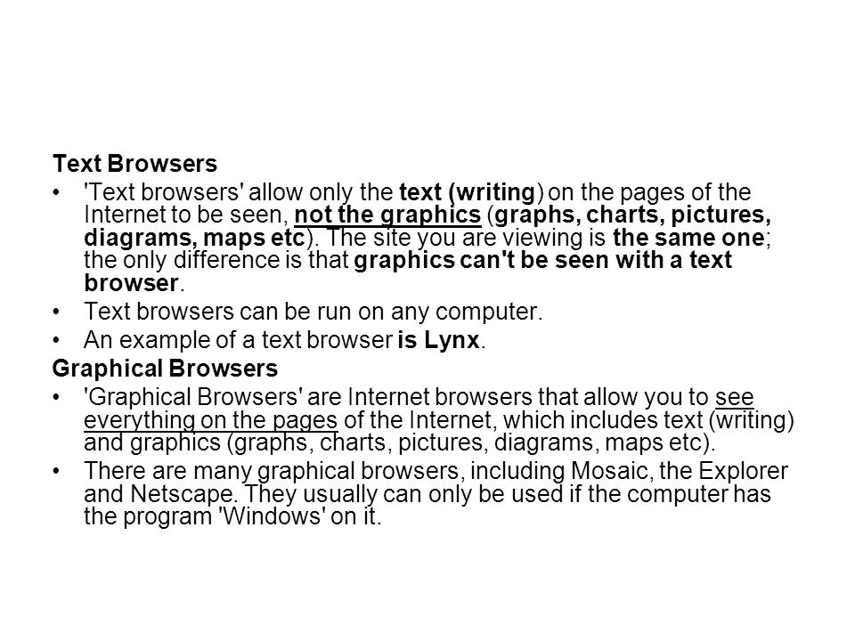 Text Browsers