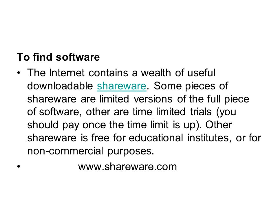 To find software
