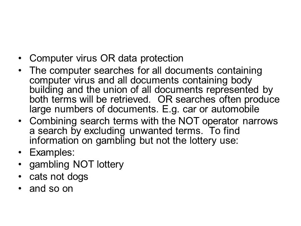 Computer virus OR data protection