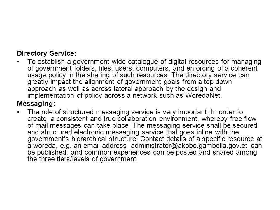 Directory Service: