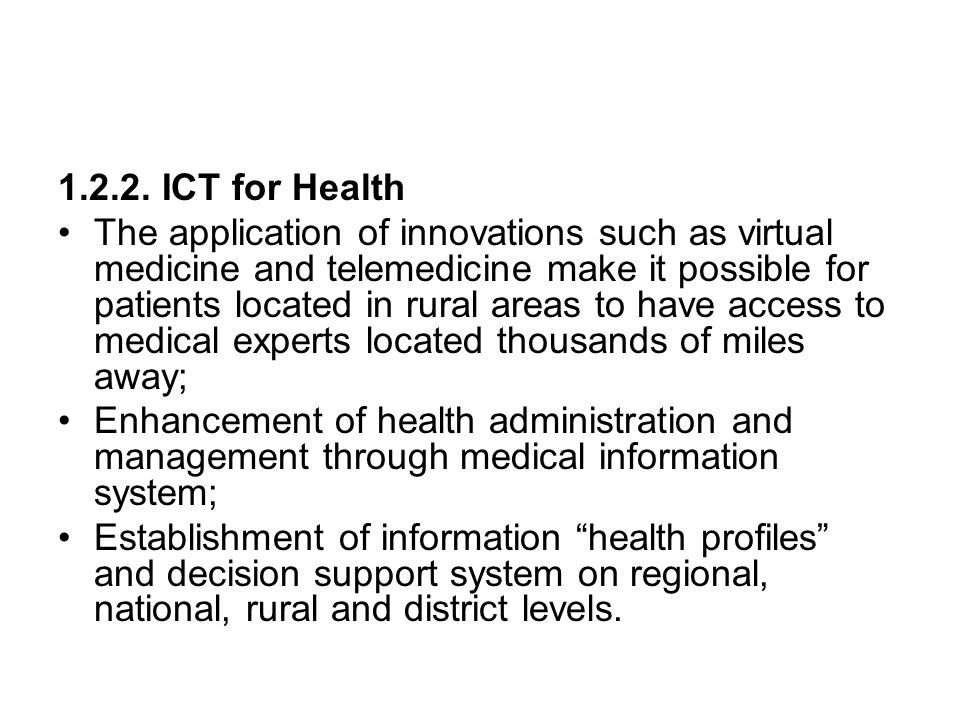 1.2.2. ICT for Health