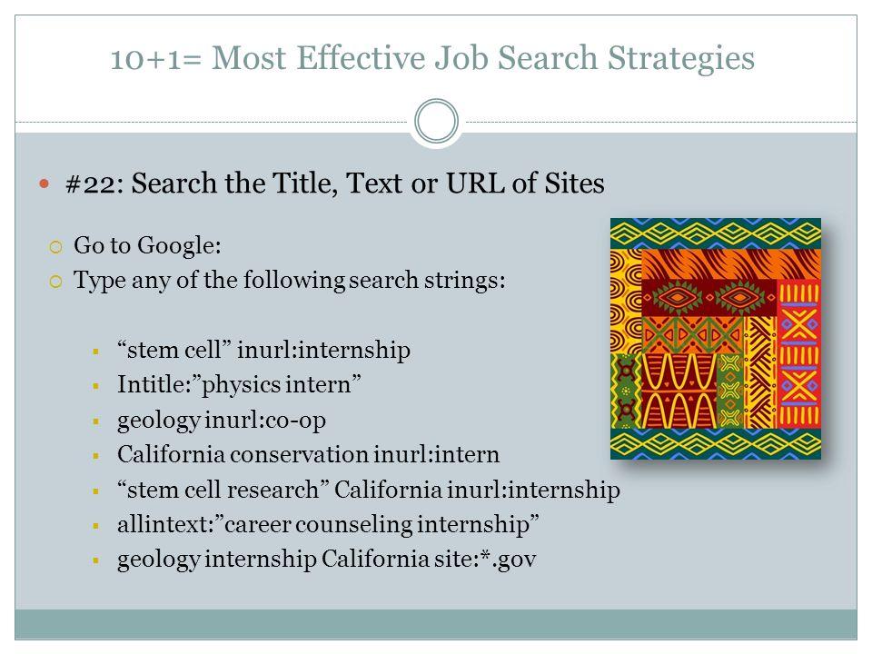 most effective job sites