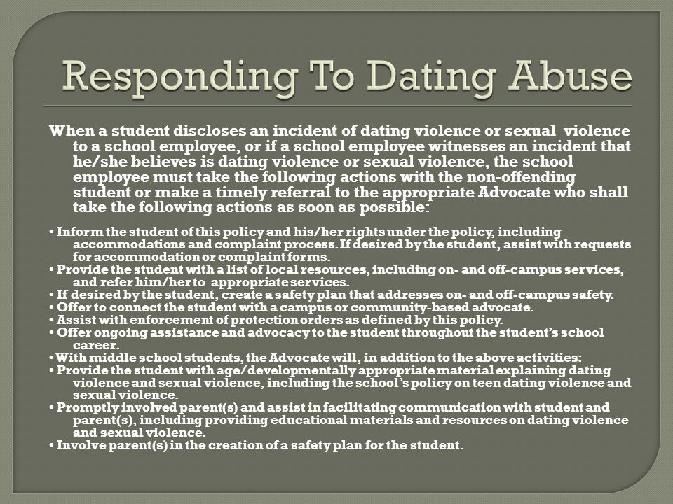 activities about dating violence