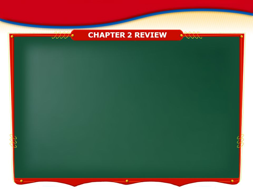 CHAPTER 1 REVIEW CHAPTER 2 REVIEW