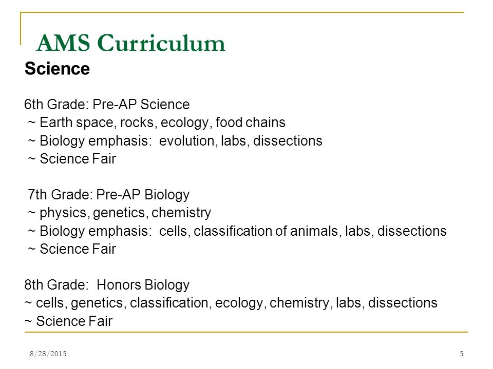 The accelerated middle school at basha high school ams ppt ams curriculum science 6th grade pre ap science sciox Image collections