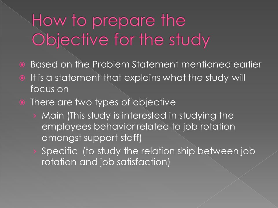 problem statement for job satisfaction This 11 page paper is comprised of these sections: problem statement, definitions of communication, employee satisfaction and 360-degree feedback approach, job satisfaction trends discussions focus on employee satisfaction, management communication and the 360 feedback model.