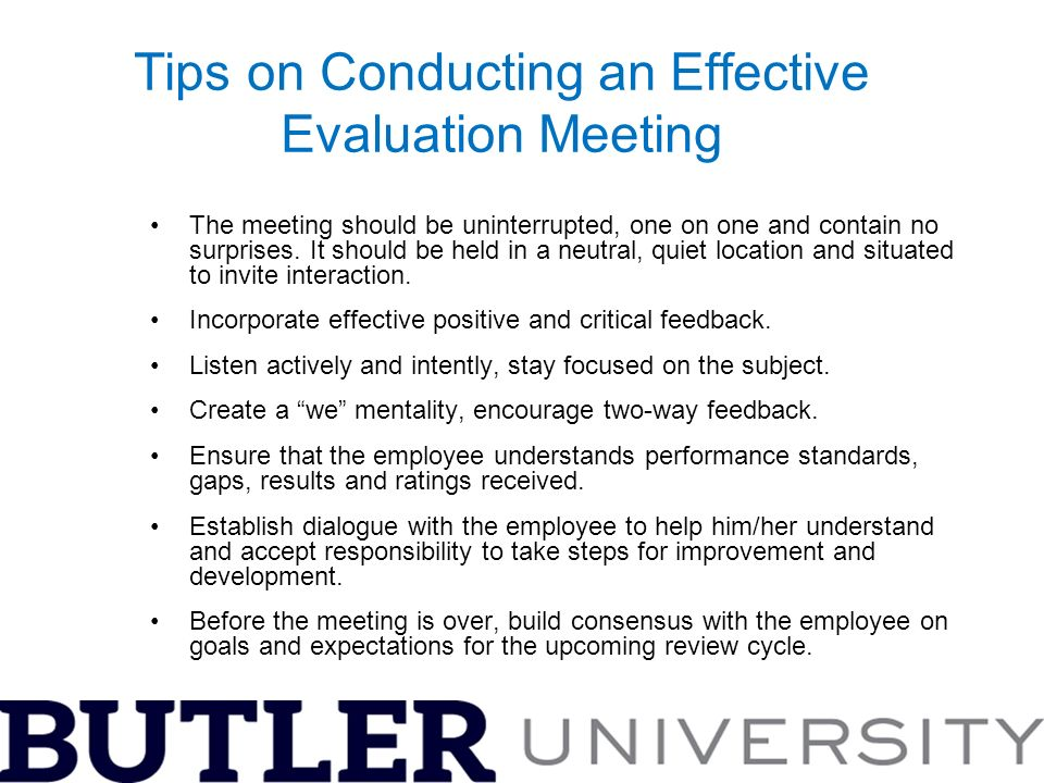 A Guide To Conducting Effective Performance Evaluations  Ppt Download