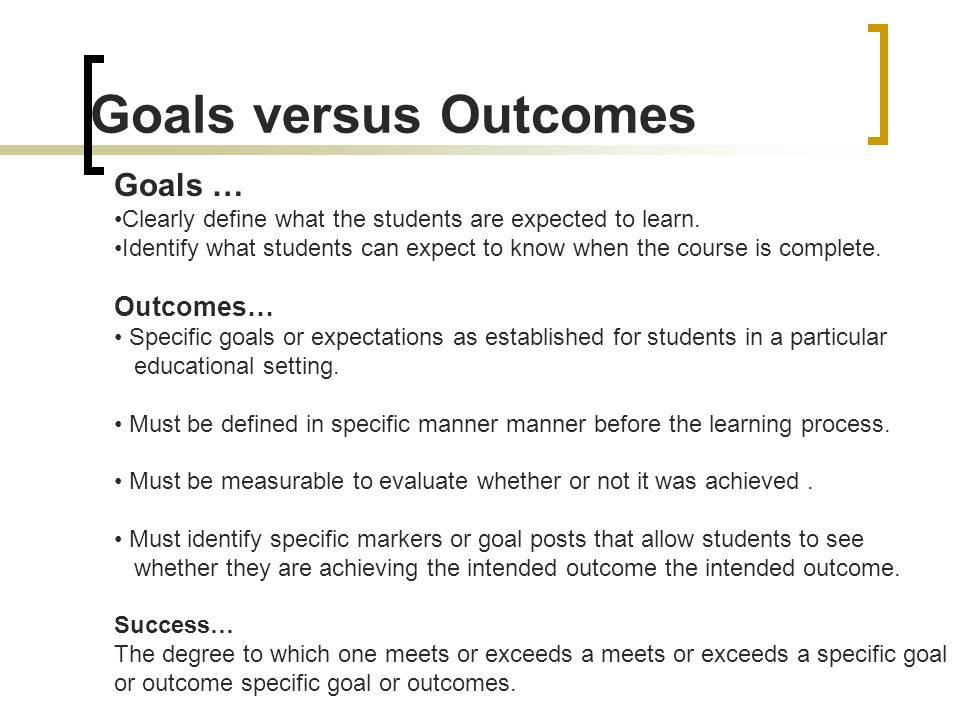 achieving specific goals and objectives essay A goal is an idea of the future or desired result that a person or a group of people envisions, plans and commits to achieve people endeavor to reach goals within a finite time by setting deadlines.