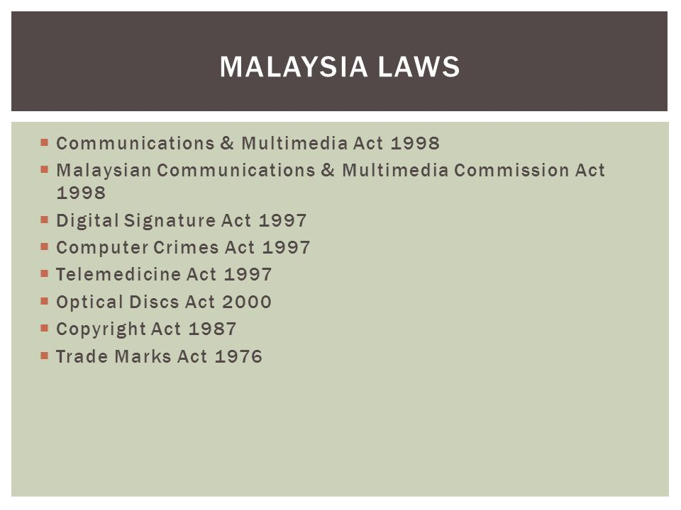 malaysia copyright act 1987 Although the term 'database' is not used in the copyright act 1987,  however,  reported case law in malaysia remain scarce on the issue of.
