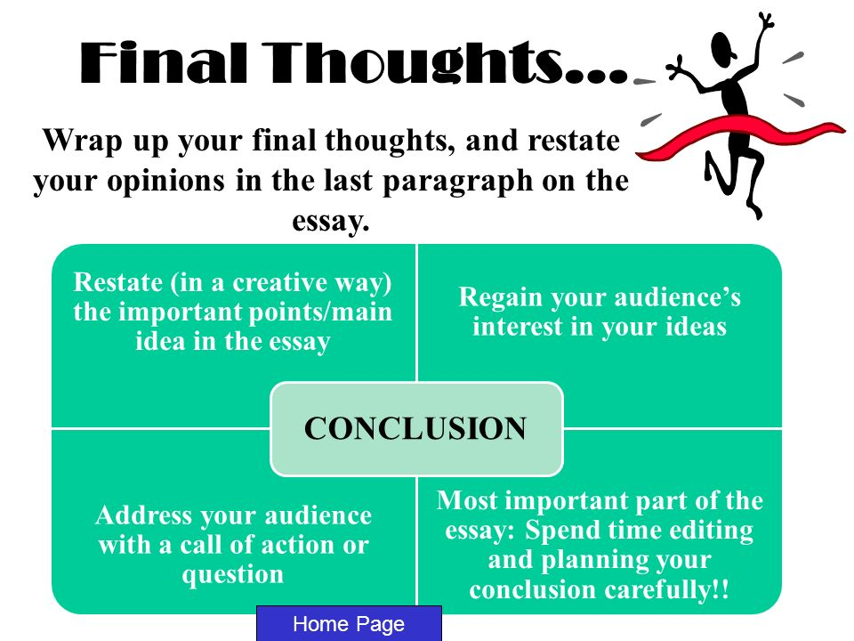 Custom Concluding Thoughts Essay