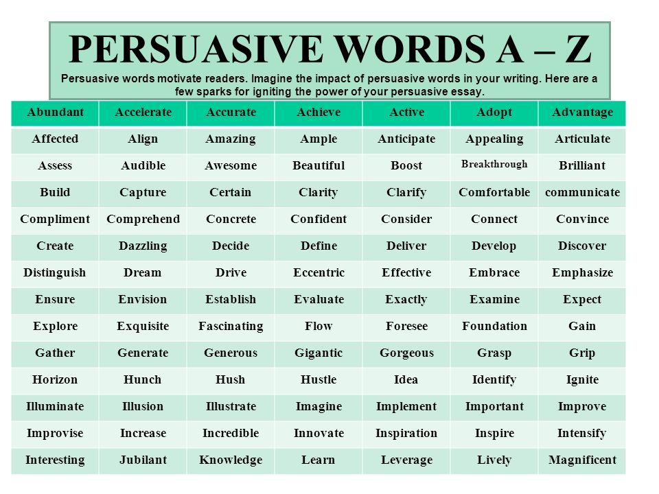 transition words list for persuasive essay Good transition words for essays between paragraphs - we aim on delivering the best possible results a student could wish for 100 persuasive essay topics.