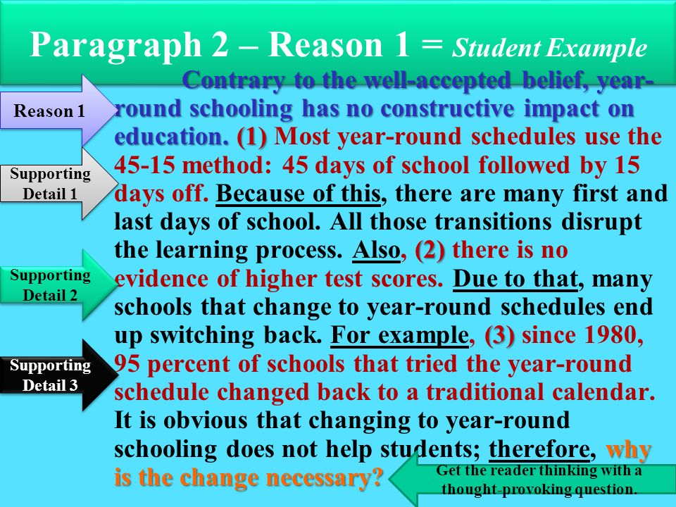 year round school essay help Year round school essayslast fall our school board decided to make it mandatory for students to attend school year-round there were many issues to look at before.