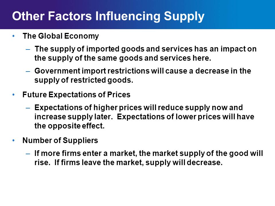 factors that influence to increase price of goods Food prices have been steadily rising since 2006  these price increases affect  the entire global population in order to take price-reducing measures, it is   food prices the high agricultural prices are attributable to a combination of  factors.