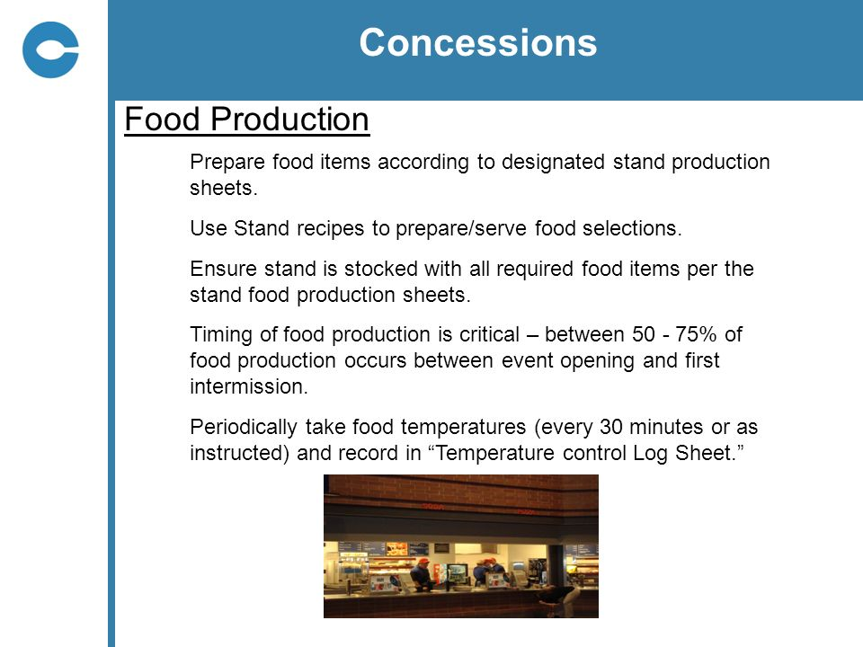 Concessions Food Production